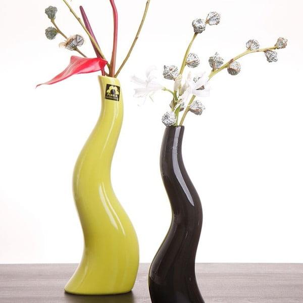 Váza Cele 23 cm, zelená