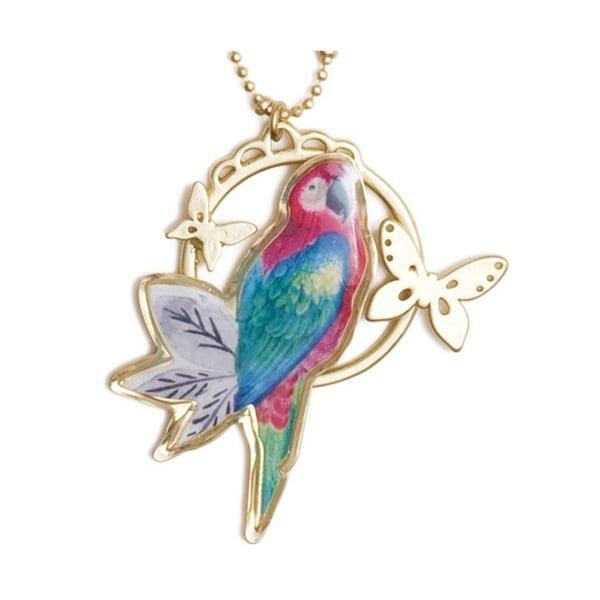 Náhrdelník Parrot and butterflies