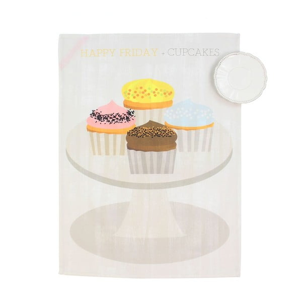 Set dvou utěrek Cupcakes