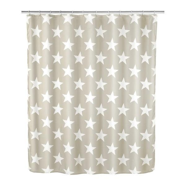 Stella szürkésbézs zuhanyfüggöny, 180 x 200 cm - Wenko