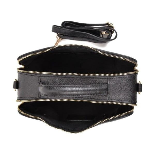 Černá kožená kabelka Sofia Cardoni Mello