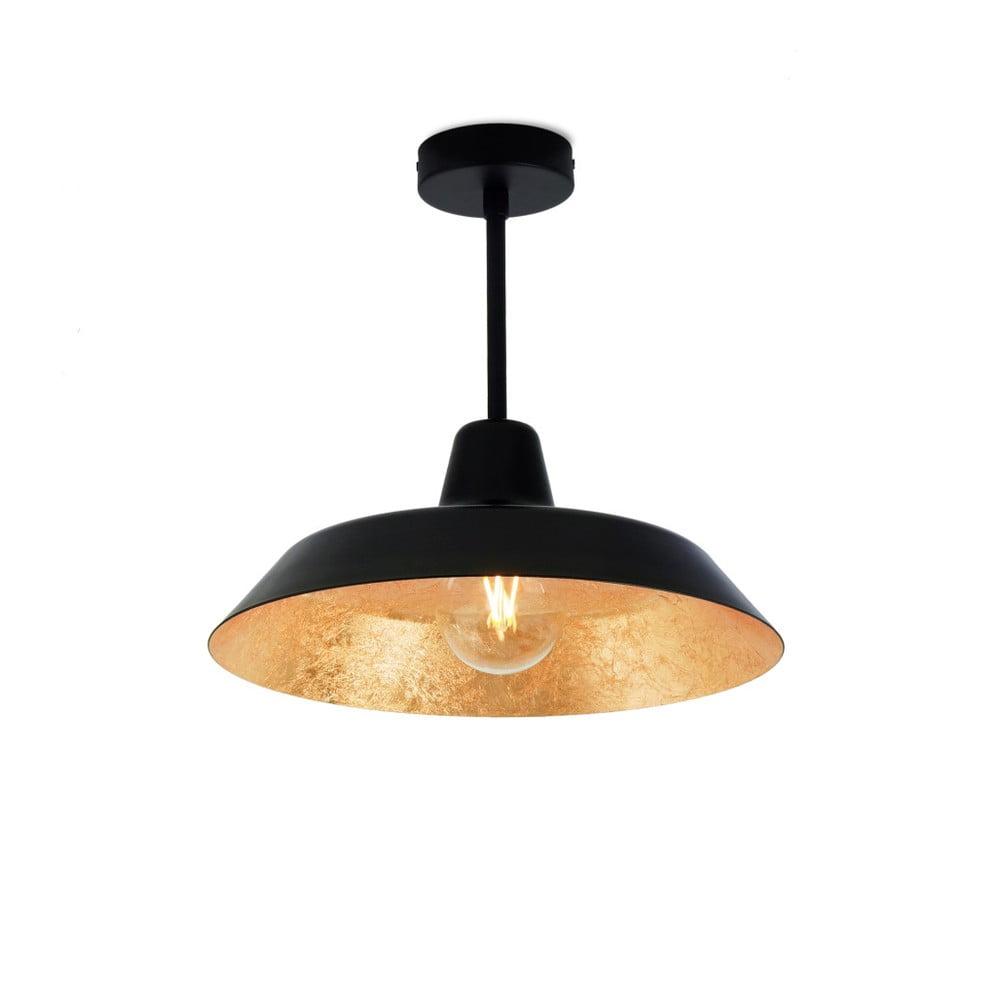Fotografie Stropní svítidlo v černé a zlaté barvě Bulb Attack Cinco Basic