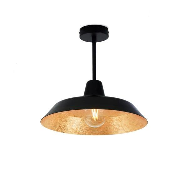 Stropní svítidlo v černé a zlaté barvě Bulb Attack Cinco Basic