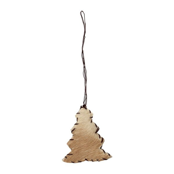 Závěsný Stromeček, přírodní kůže, 2 ks