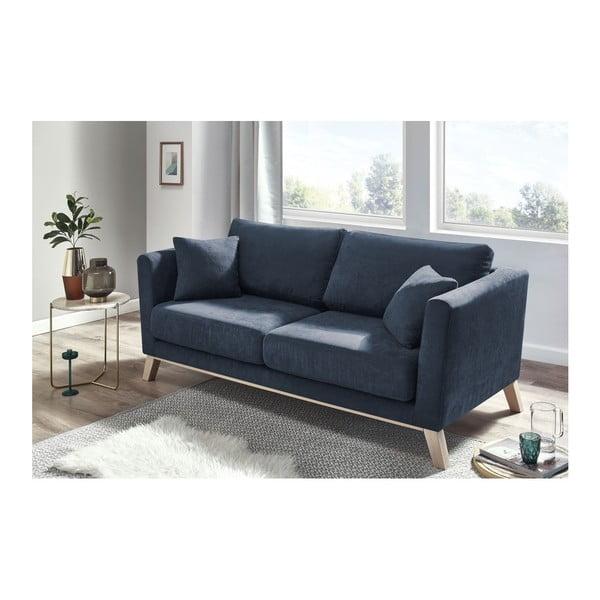 Canapea cu 3 locuri Bobochic Paris Doblo, albastru închis