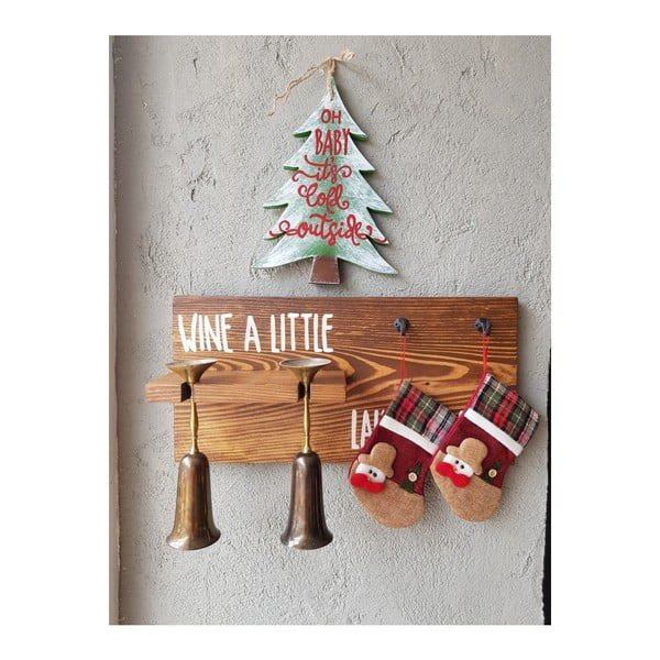 Christmas Tree karácsonyi faldísz, 30 x 2 x 23 cm