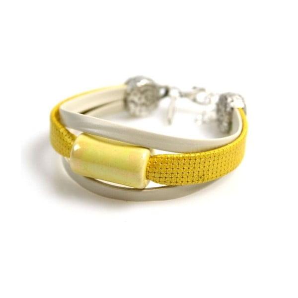 Náramek Stone, žlutý
