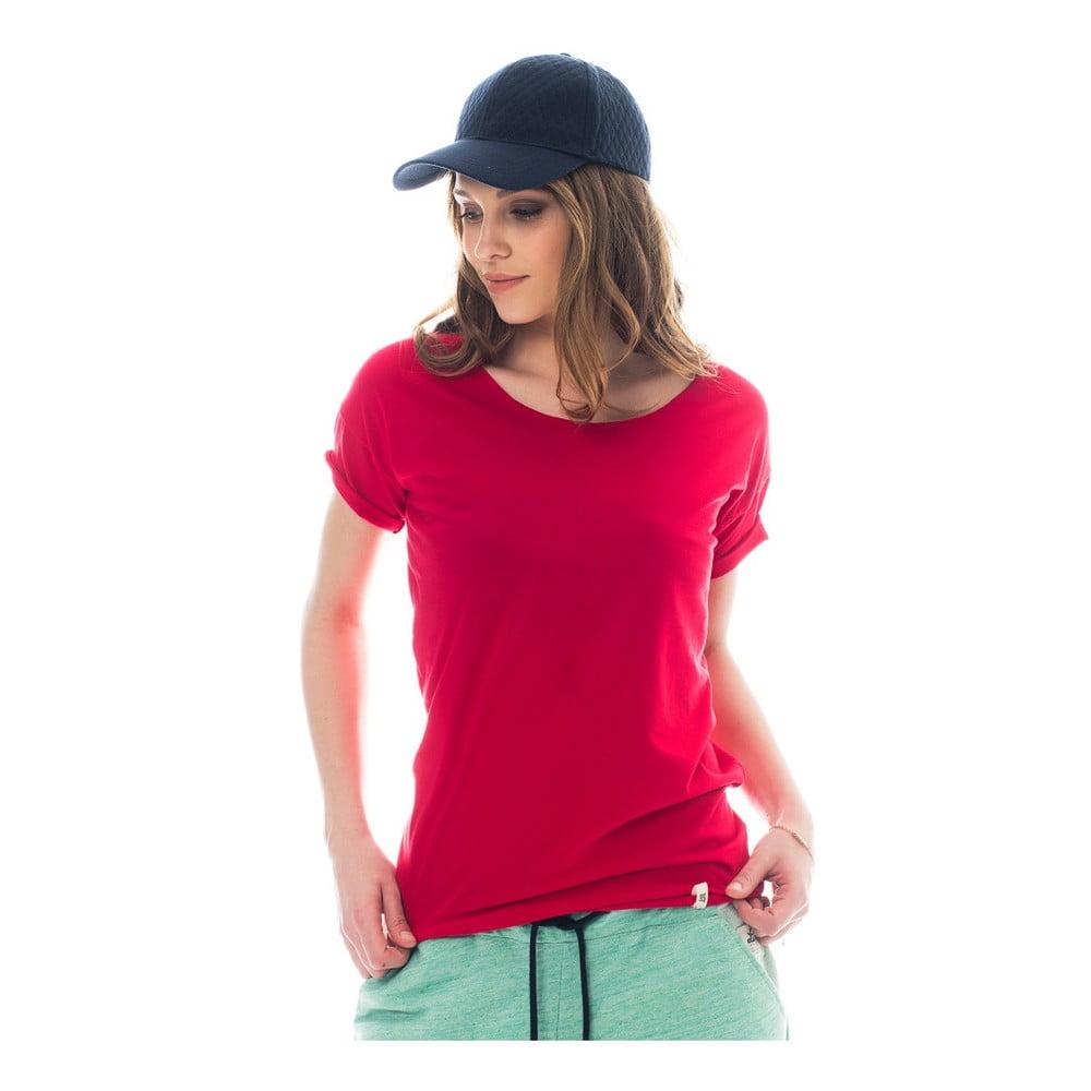 Tmavě růžové bavlněné tričko Lull Loungewear Wooddales 15b77470de