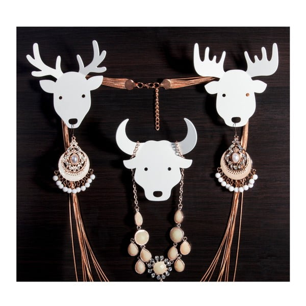 Věšák na klíče Deer, bílý