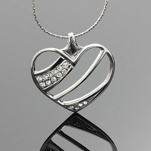 Náhrdelník Swarovski Elements Elegant Heart