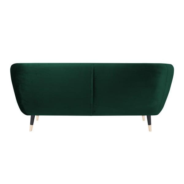 Zelená dvoumístná pohovka s černými nohami Mazzini Sofas Benito