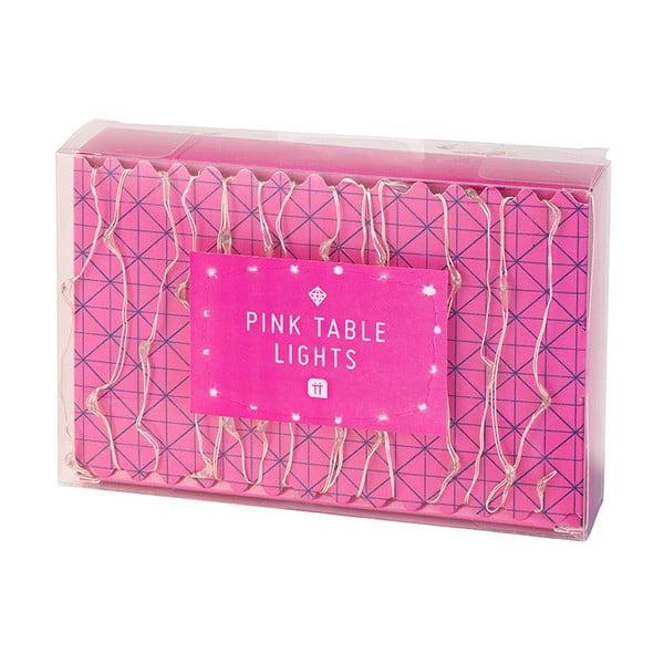 Růžově svítící řetěz Talking Tables Party, délka3m