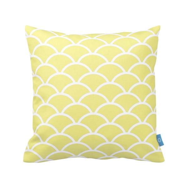 Žlutobílý polštář Homemania Deco Ornament no. 23, 43x43cm