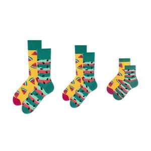 Rodinná sada 3 párů ponožek v dárkovém balení Many Mornings Watermelon Medium