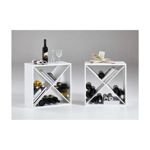Set 2 suporturi pentru vin Riki, alb