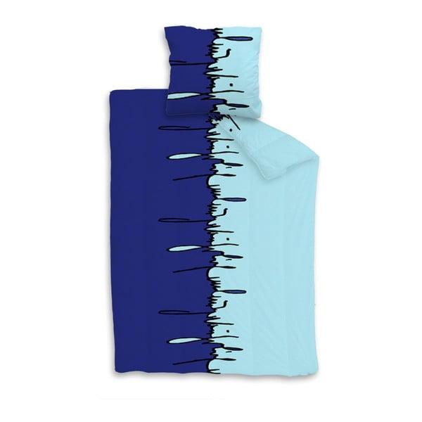Povlčení na jednolůžko Graffiti bleu, 140x200 cm