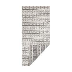 Šedo-krémový oboustranný koberec vhodný i na ven Bougari Madeira, 200 x 290 cm