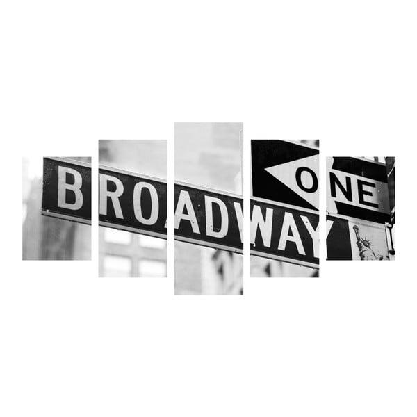 Vícedílný obraz Black&White Broadway