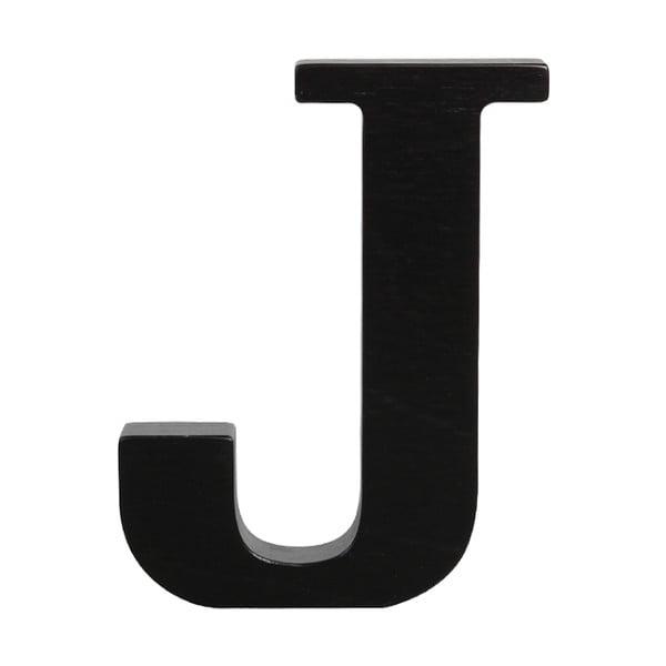 Černé dřevěné písmeno Typoland J