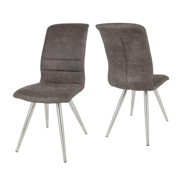 Antracitová židle Canett Malta