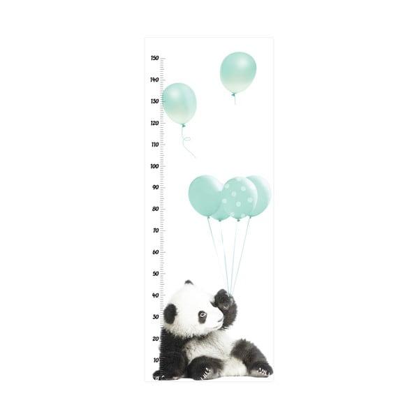 Nástěnná samolepka s měřítkem výšky Dekornik Minty Panda, 60x160cm