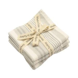 Sada 3 šedo-bílých bavlněných ručníků My Home Plus, 33 x 33 cm