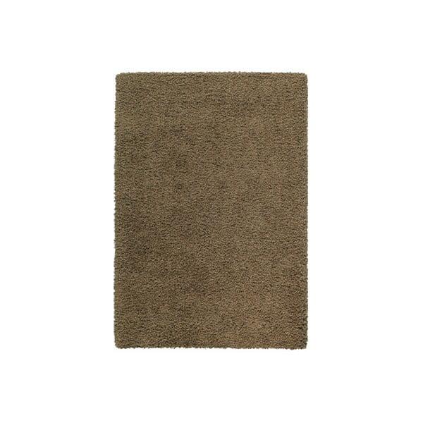 Koberec Shaggy 80x150 cm s 3 cm dlouhým vlasem, hnědý