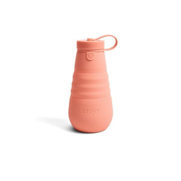 Oranžová skládací láhev Stojo Bottle Apricot, 590 ml