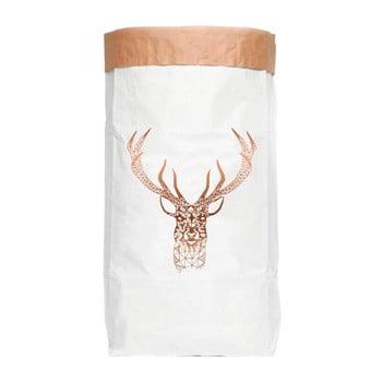 Sac depozitare din hârtie reciclată Really Nice Things Copper Deer de la Really Nice Things