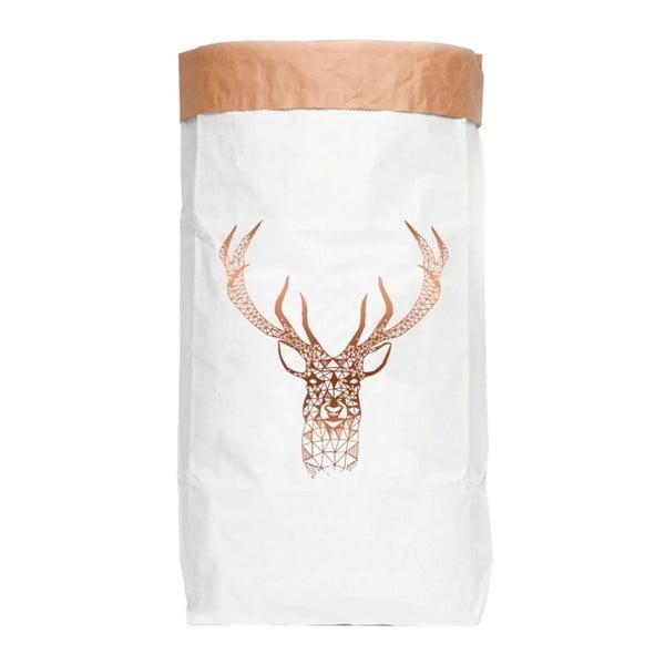 Úložný pytel z recyklovaného papíru Really Nice Things Copper Deer
