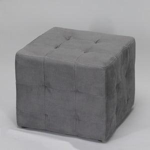 Šedý taburet Simla Cube