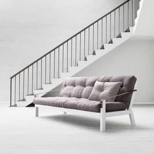 Rozkládací sofa Poetry, gris/clear, lehce poškozený obal