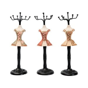 Sada 3 dekorativních figurek Antic Line Rose Dress
