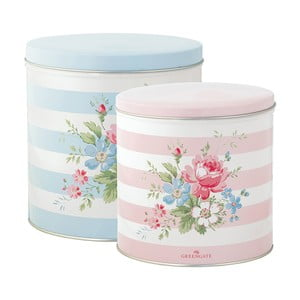 Set 2 cutii rotunde Marie Pale Blue