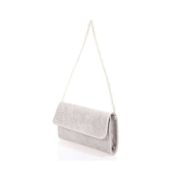 Šedá kožená kabelka Giulia Massari Artie