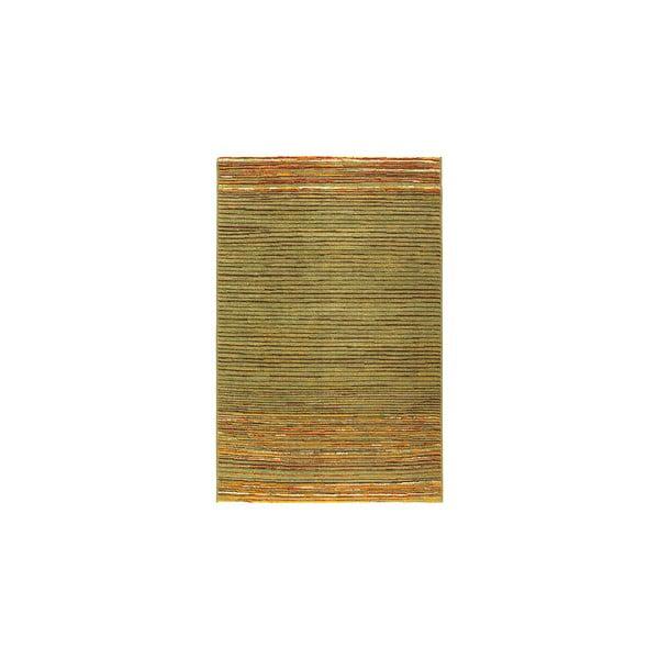 Vlněný koberec Coimbra no. 172, 67x200 cm, zelený