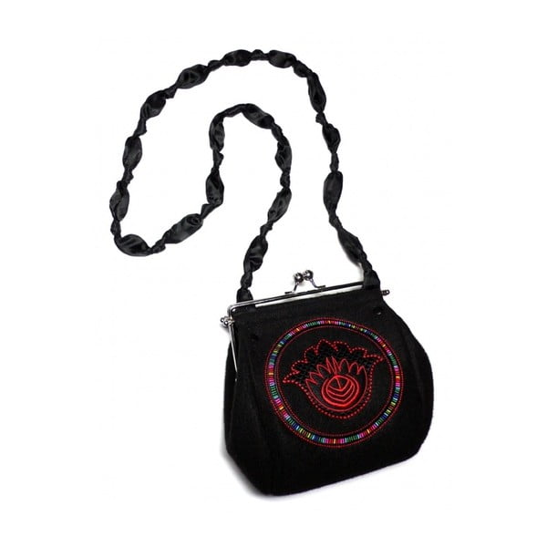 Plstěná vyšívaná kabelka Goshico Fiore
