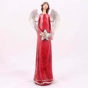 Červený anděl s hvězdou Dakls