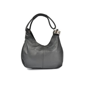 Černá kožená kabelka Carla Ferreri Andrea