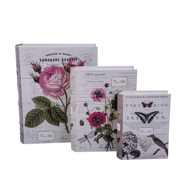 Sada 3 úložných krabic Di Libro