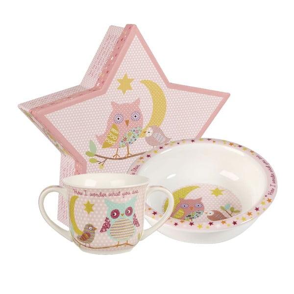 Set hrnku a misky Twinkle Pink