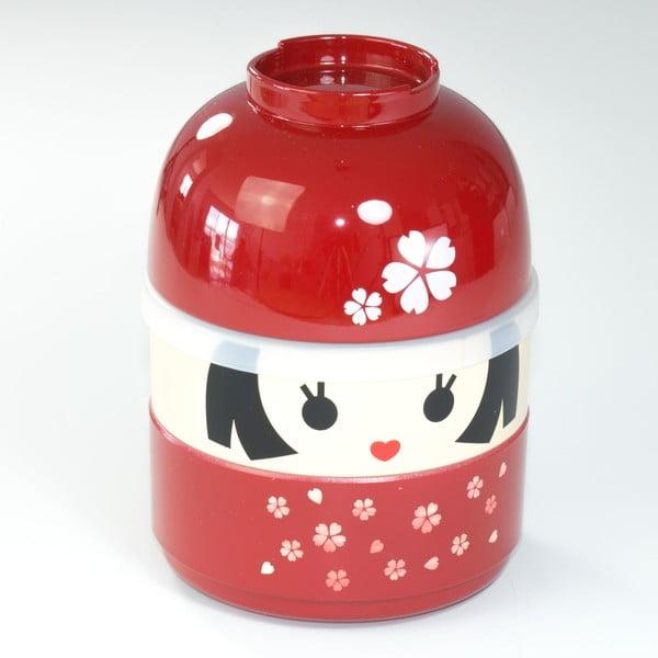 Dětský svačinový box Kokeshi Red, 440 ml