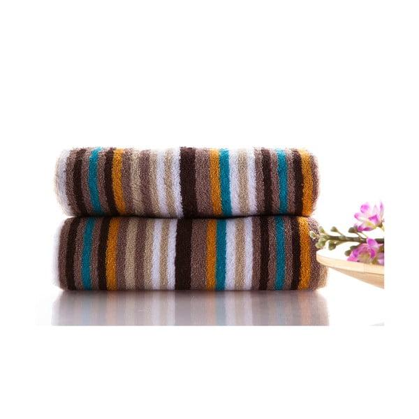Set dvou ručníků Cizgi 80x40 cm, hnědý