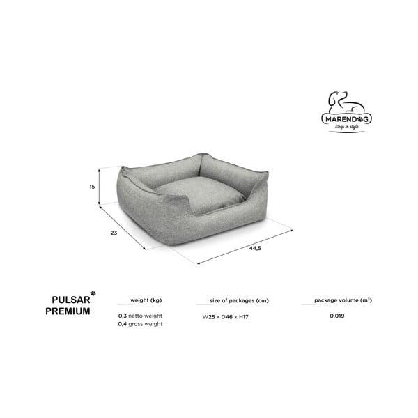 Světle šedý pelíšek pro psy Marendog Pulsar Premium
