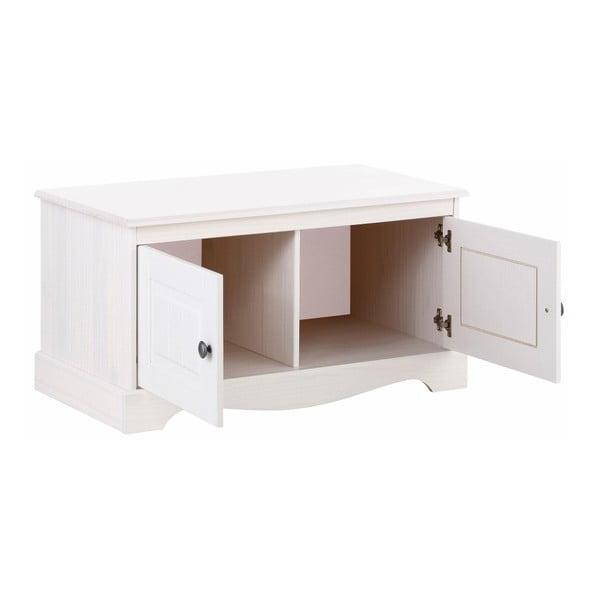 Bílá dřevěná skříňka Støraa Monty
