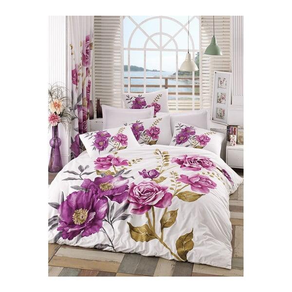 Lenjerie de pat cu cearșaf Celina, 200 x 220 cm, roz