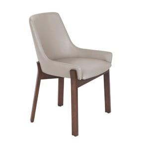 Béžovošedá jídelní židle Ángel Cerdá Luna