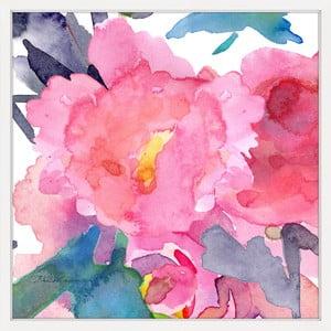 Obraz na plátně Marmont Hill Watery Blossom, 41 x 41 cm