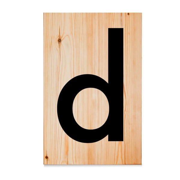 Dřevěná cedule Letters D