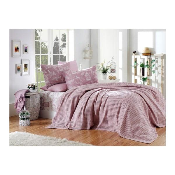 Sötét rózsaszín pamut egyszemélyes ágyneműhuzat, 160 x 240 cm - Unknown